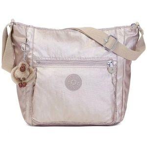 Kipling metallic gold crossbody handbag